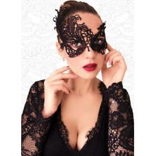Ажурная асимметричная маска чёрного цвета
