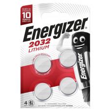 Батарейки Energizer Lithium CR2032 3V - 4 шт.