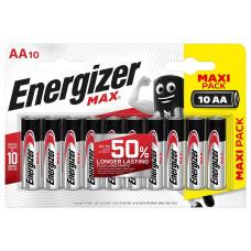 Батарейки Energizer MAX AA/LR6 1.5V - 10 шт.