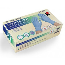 Голубые нитриловые перчатки размера L - 100 шт.(50 пар)