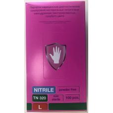 Голубые нитриловые перчатки Safe Care размера L - 100 шт.(50 пар)