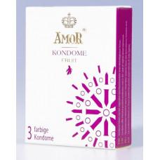 Ароматизированные презервативы AMOR Fruit - 3 шт.