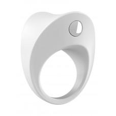 Белое эрекционное кольцо B11 с вибрацией